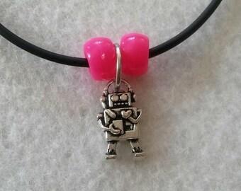 Lot 10 Robot Necklaces Party Favors