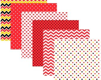 """Mouse Pack. 6 sheets of 12"""" x 12"""" Pattern Vinyl With Permanent Adhesive and FREE shipping."""