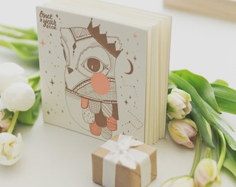 Last orders! Baby, Journal Album, OWL, keepsake book - #makeforgood