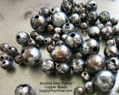 10 COPPER Beads, Ancient Relic PATINA , Hand Altered Patina, Choose 4mm, 6mm, 8mm or 9.5mm Beads