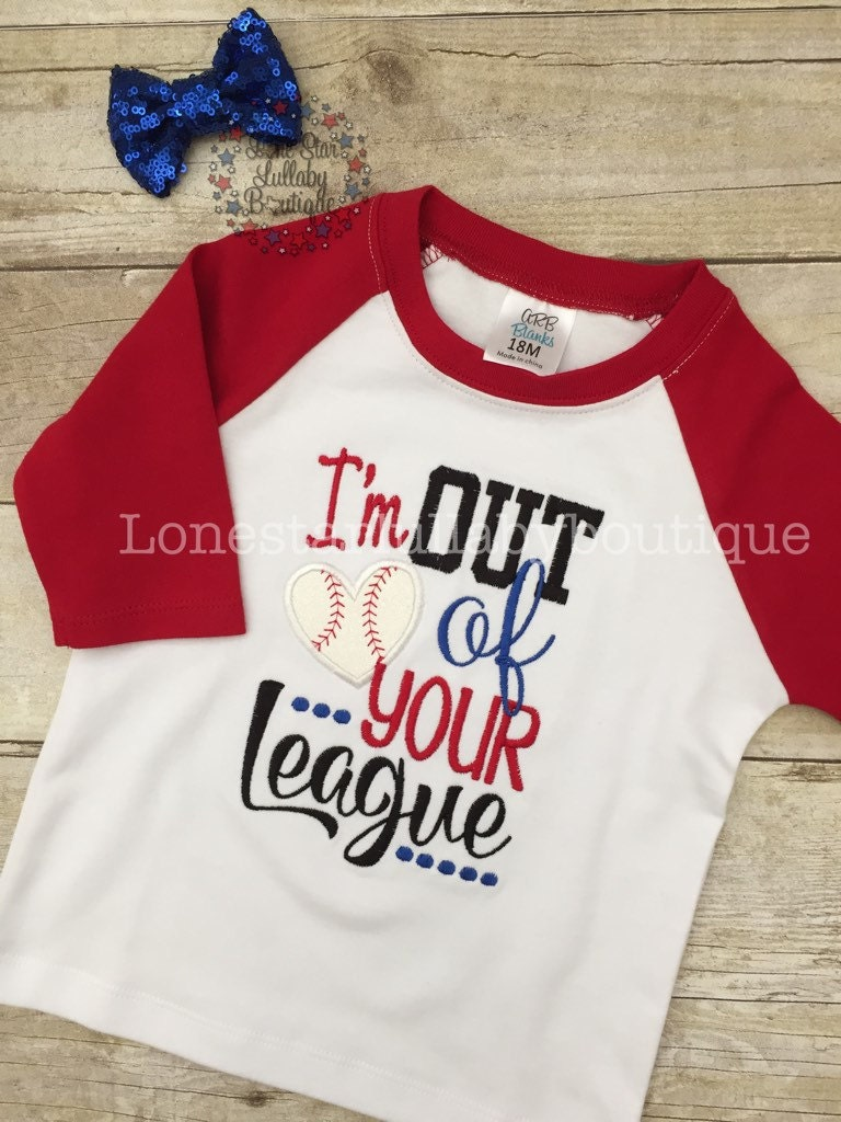 Custom baseball fan shirt baby girls toddler girls tween Designer baseball shirts