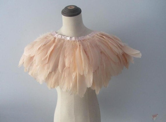 2016 Discount Item Burlesque  Nude rooster coque Blush Pink feather Wrap Feather Collar Shrug Cape  AA quality