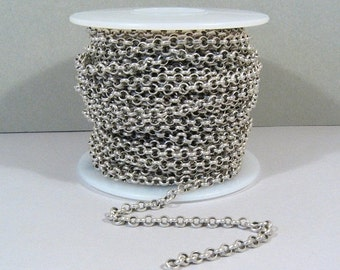 10% OFF 5ft Rolo Chain - Antique Silver - CH12