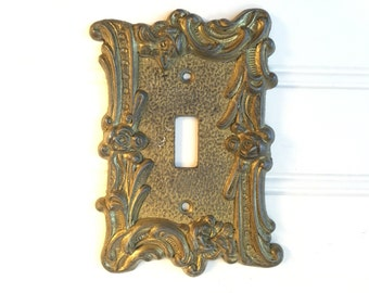 Light Switch Cover - Lightswitch Cover Plate - Switchplate Cover - Vintage Electrical Outlet -