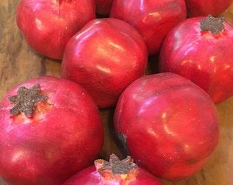 10 pomegranate faux Fruit