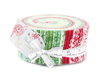 NORTH WOODS Moda JELLY roll Kate Spain Quilts Scandinavian Christmas fabric 40 2.5 inch strips 27240Jr