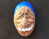 Ceramic Face Wall Sculpture