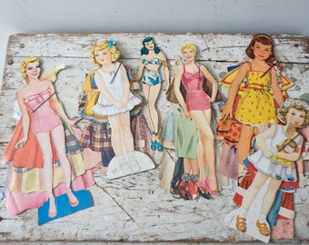 Vintage Paper Doll Lot No. 2 Paper Paper Ephemera Pinup Pin Up Girl