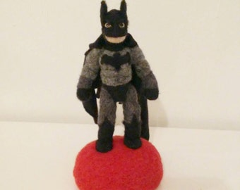 Sale: AdoraWools Batman Action Figure - Soft Sculpture Doll - Batman Vs. Supreman