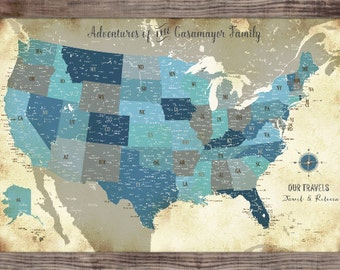 Maps For Weddings Push Pin World Map X Inches Large - 40x60 us maps