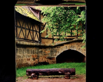 Tissue Box Cover Log Bench in Rothenburg
