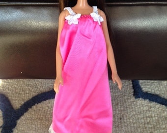 Handmade Nightgown for Barbie - Hot Pink