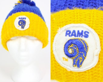 Vintage Retro L.A Rams Knit Beanie