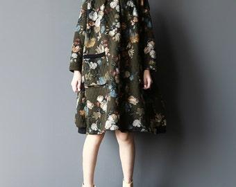 Cotton Oversize knee Long dress Loose Fitting maternity dress