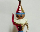 Jester Vintage Ornament Italian Blown Glass and Hand Decorated