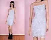 90s Mesh Pastel Floral Dress