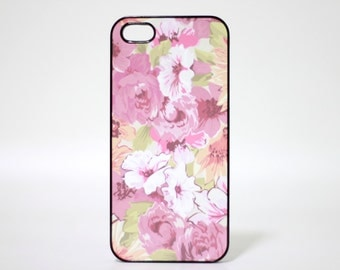 Black iPhone 5 case iPhone 5s case iPhone 5se cover iPhone Skin Flower - HTPCW5004