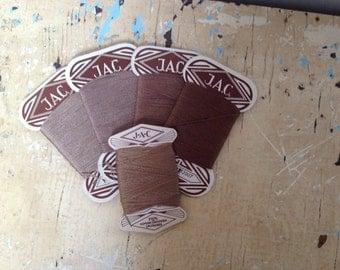 Vintage J.A.C. mending thread, 5 cards