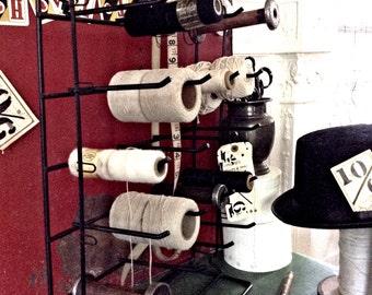 Mad Hatter's Vintage Industrial Millinery Bobbins Notions Metal Display Rack
