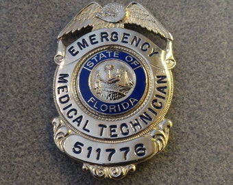 Obsolete Florida EMT Badge