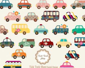 Toy Car 24 SET - (6 inch) Clip Art