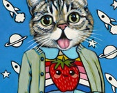 Lil Bub - Matte Print- From Painting by Heather Mattoon