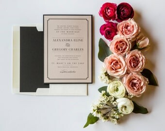 Classic Ave Blush Wedding Invitation