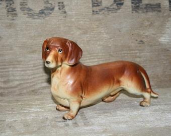 Dachshund Figurine - Vintage - Ceramic Dog