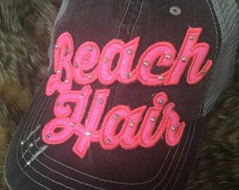 Beach hat select letter color