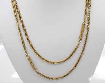 Vintage Opera Length Necklace - 40 Inches - Single Strand Chain - Retro Jewelry
