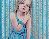 Blue Garden Original Acrylic Painting / Artwork