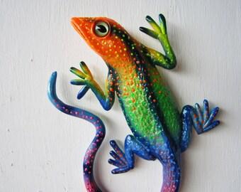 Lizard  art wall  sculpture-gecko art-reptile art-whimsical gecko