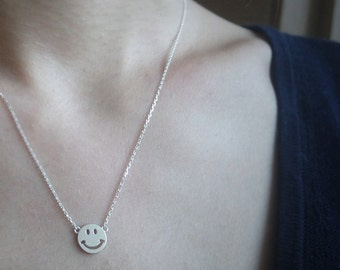 Sterling Silver Smile Necklace - Silver Smile Jewelry