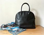 Vintage Cole Haan Black Satchel Tote Bag