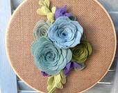 Felt Succulent Embroidery Hoop Art