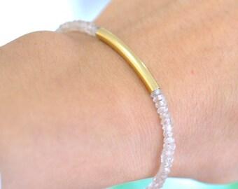 Golden Shadow Bracelet,  Natural Zircon Bracelet, Everyday Jewelry, Romantic Jewelry, Minimum jewelry, Minialist