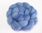 Polwarth Wool Top (Roving) - Spinning / Felting Fibre - 4 oz. - Denim Days