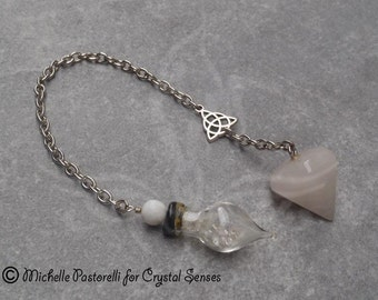 Elemental Agate Gemstone Dowsing Pendulum (DP0075)