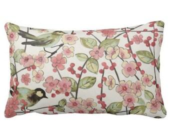 Bird Pillows, Lumbars, Spring Pillows,Decorative Pillows for Couch,Pink Pillows, Throw Pillows,Pillow covers, Waverly Pillows, Pillow Sets