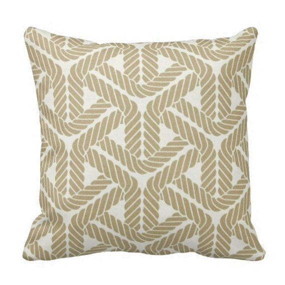 Cute Neutral Throw Pillows : Items similar to Neutral Outdoor Pillows, Nautical Throw Pillows,Patio Pillows, Pool Pillow ...