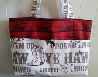 Diaper bag, handbag, purse, book bag..Ye Haw Cowboy N Barn Customize yours now.