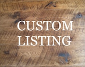 CUSTOM LISTING: Reclaimed Chestnut TV Console & Coffee Table
