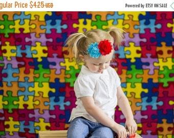 Presidents Day Sale Autism awareness - autism headband - puzzle headband - toddler headband