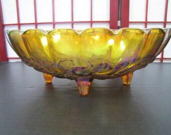 Carnival Glass Bowl #020117 Vintage