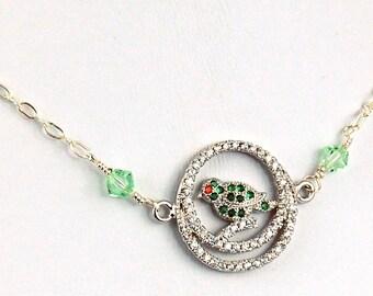 Crystal Bird Necklace
