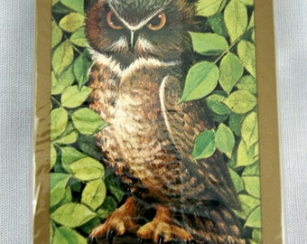 Vintage 1980's Hoyle Horned Owl Playing Cards Deck