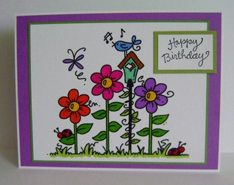 Happy Birthday note card (with verse)