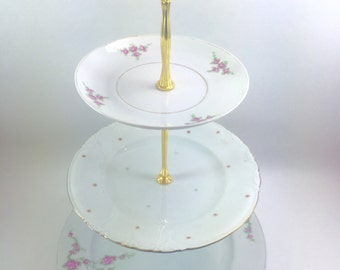 Daisy and Rose 3 Tier Cake Stand Jewelry Display Tidbit Tray
