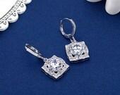 Crystal Bridal Rhinestone Earrings, Art Deco Earrings, Swarovski Crystal Rhinestone Drop Earrings, SparkleSM, Earring, Bridal Earrings, Cole