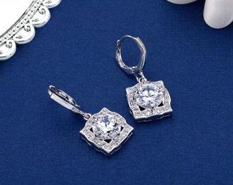 Bridal Earring, Wedding Earrings, Crystal Earrings, Bridesmaids Earrings, CZ Earrings, CZ Jewelry, Bridal Jewelry, Wedding Jewelry,
